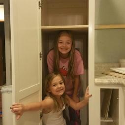 girls in pantry