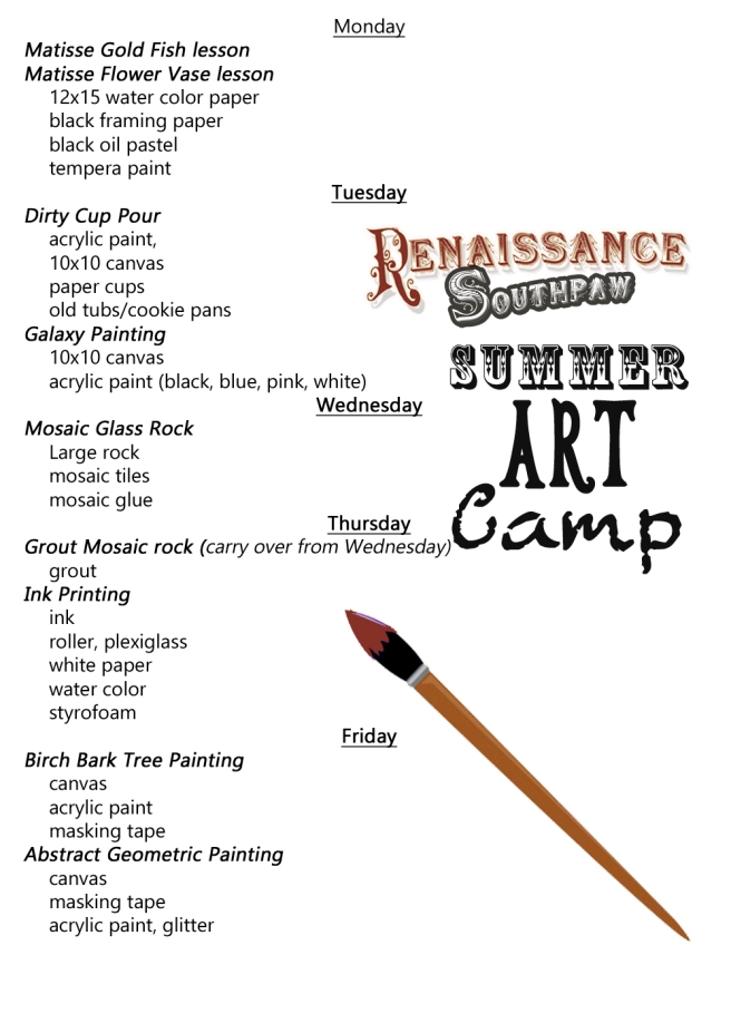 summer art schedule copy