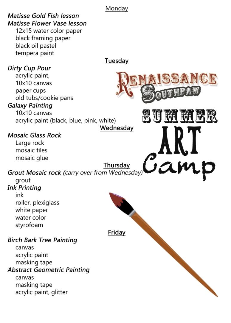 summer art schedule copy